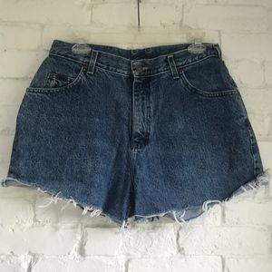 High waisted cutoff jean shorts ~30in waist